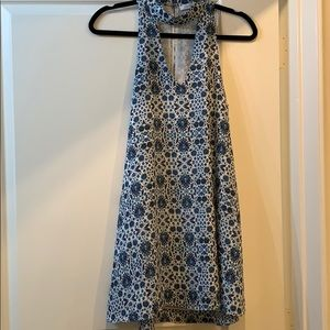 Blue and white oliviaceous dress
